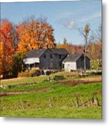 The Old Farm In Autumn Metal Print