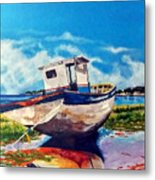 The Old Fishing Boat Metal Print