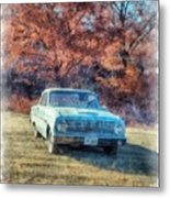 The Old Ford On The Side Of The Road Metal Print