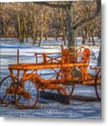 The Old Grader Metal Print by Robert Pearson