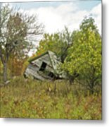 The Old Homestead And Orchard Metal Print