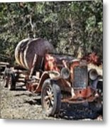 The Old Jalopy In Wine Country, California  Metal Print