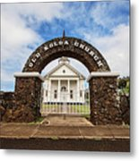 The Old Koloa Church Metal Print