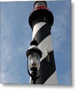 The Old Lantern And The Lighthouse Metal Print