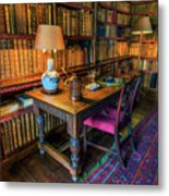 The Old Library Metal Print