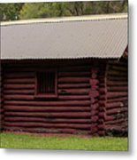 The Old Log Hut Metal Print