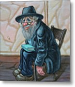 The Old Man Near The Western Wall Metal Print