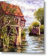 The Old Mill Of Vernon Metal Print