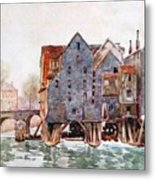 The Old Mills At Meaux Metal Print