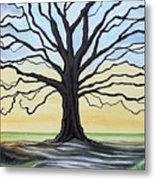 The Stained Old Oak Tree Metal Print