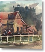The Old Old House Metal Print