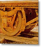 The Old Railway Wagon Metal Print