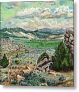 The Old Ranch Gate Metal Print