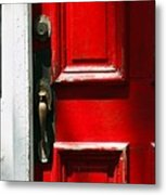 The Old Red Door Metal Print