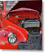 The Old Red Jalopy Metal Print