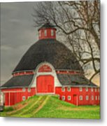 The Old Round Barn Of Ohio Metal Print