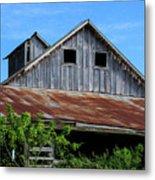 The Old Rusty Barn Metal Print