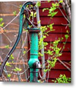 The Old Rusty Water Pump Metal Print