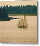 The Old Schooner Metal Print