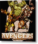 The Old Time-y Avengers Metal Print by Brian Kesinger