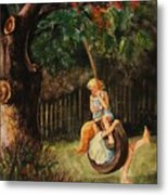 The Old Tire Swing Metal Print