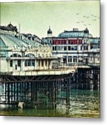 The Old Victorian West Pier Metal Print