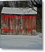 The Old Weathered Barn Metal Print