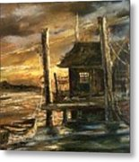 The Old Wharf Metal Print