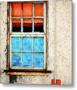 The Old Window Metal Print