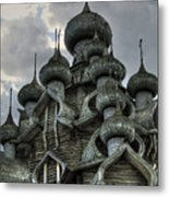 The Old Wooden Church Metal Print