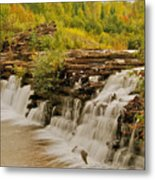 The Old Wooden Dam Metal Print
