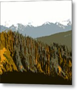 The Olympic Mountains Metal Print