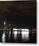 The Olympic Oval At Night Metal Print