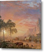 The Oregon Trail Metal Print