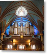 The Organ Inside The Notre Dame In Montreal Metal Print