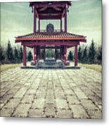 The Oriental Touch Metal Print
