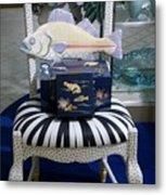 The Original Fish Chair  Metal Print