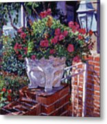 The Ornamental Floral Gate Metal Print