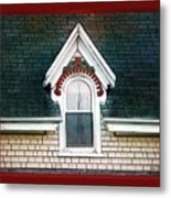 The Ornamented Gable Metal Print