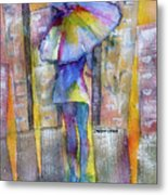 The Other Girl In The City Metal Print
