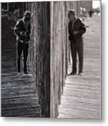Both Sides Of The Fence Metal Print