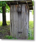 The Outhouse Metal Print