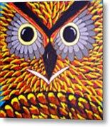 The Owl Stare Metal Print