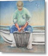 The Oysterman Metal Print