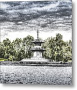 The Pagoda In The Snow Metal Print