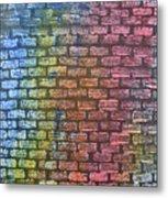 The Painted Brick Wall  Metal Print