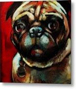 The Painted Pug Metal Print