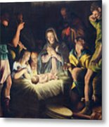 The Painting Of Nativity By Pier Maria Bagnadore Metal Print