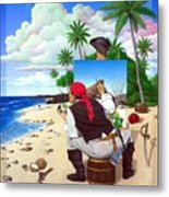 The Painting Pirate Metal Print