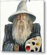 The Painting Wizard Metal Print